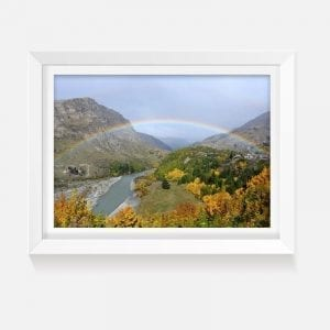 Indoor print wall art queenstown rainbow